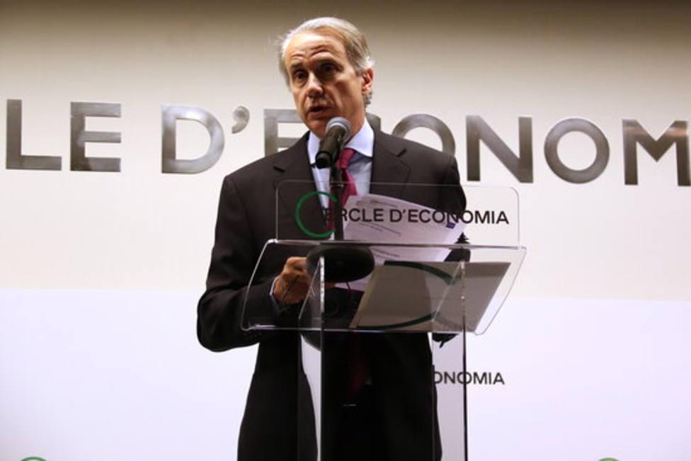 Javier Faus en la rueda de prensa de presentación de las jornadas 'La gran reconstrucción'