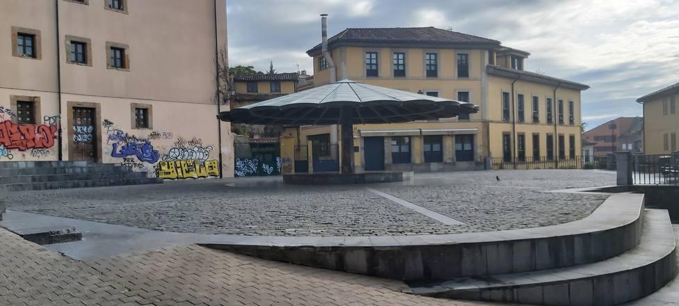 Plaza del Paragüas en Oviedo