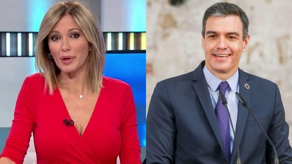 Susanna Griso y Pedro Sánchez