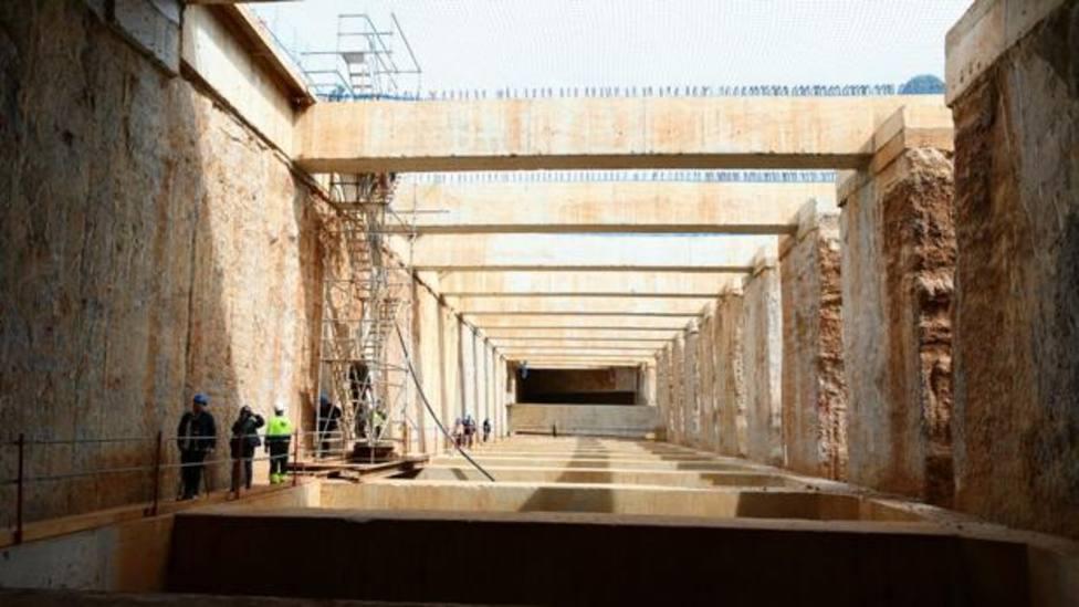 Obras en el túnel de Glòries