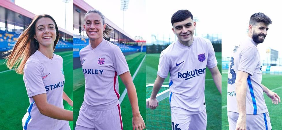 Segunda equipación del FC Barcelona