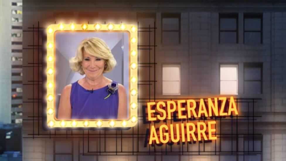 Esperanza Aguirre se sube a 'La Azotea' en el estreno del late night de TRECE
