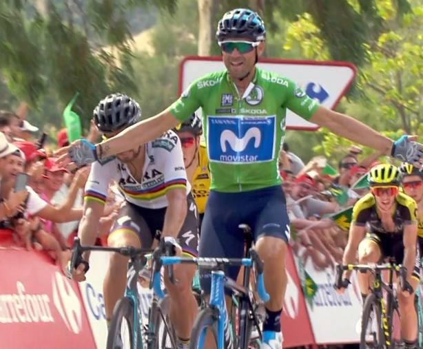 Alejandro Valverde se exhibe logrando el segundo triunfo de la Vuelta en Almadén