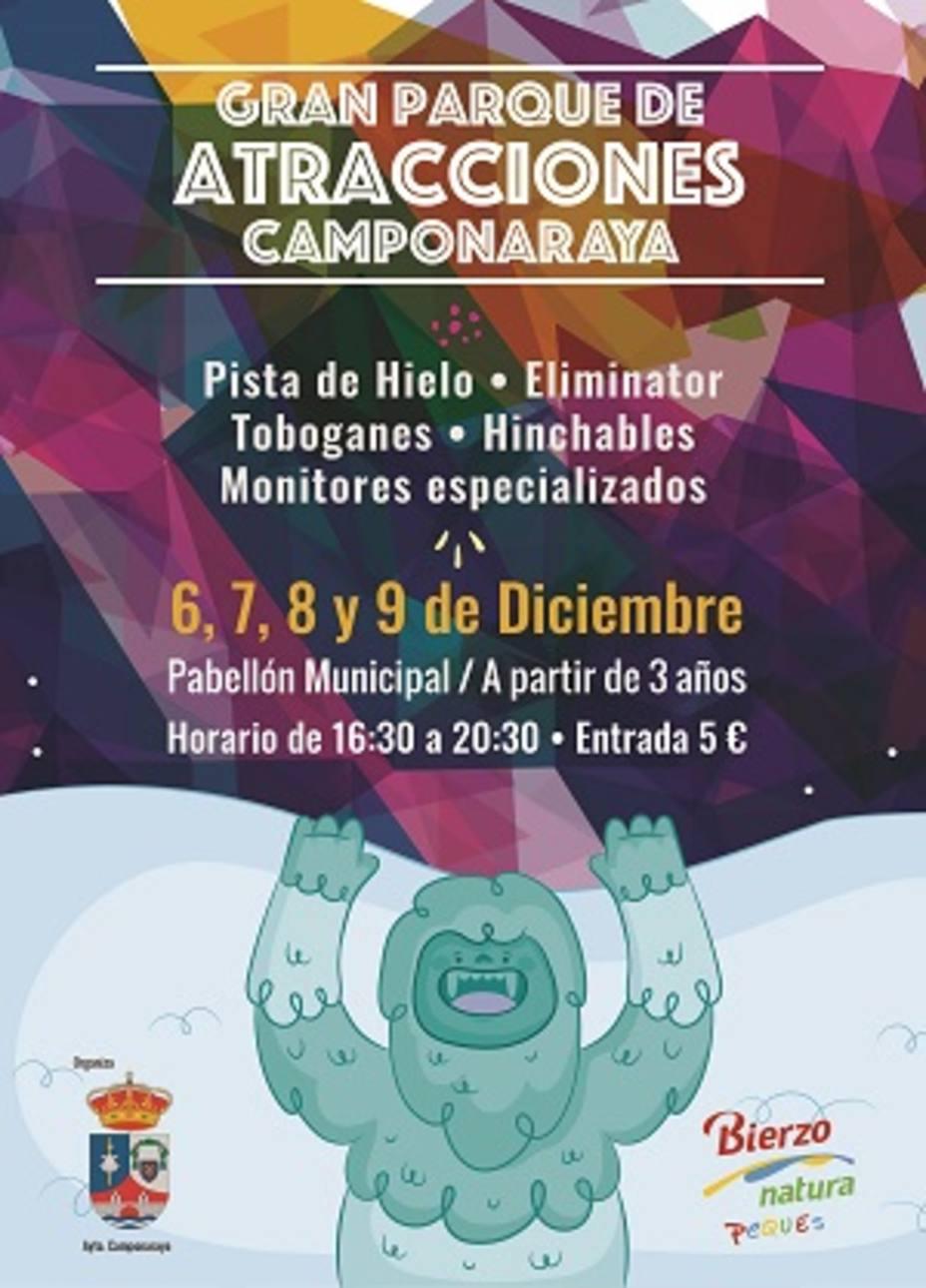 'Parque de atracciones', con pista de hielo incluida, en Camponaraya