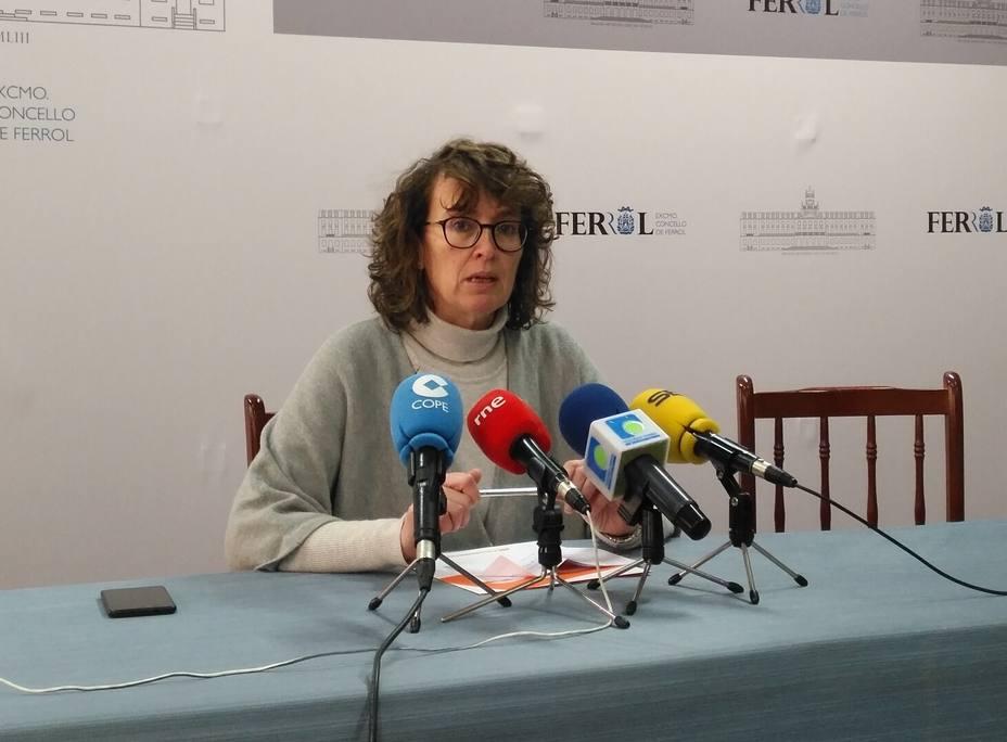 Ana Rodríguez Masafret, portavoz del gruo municipal del Ciudadanos en Ferrol