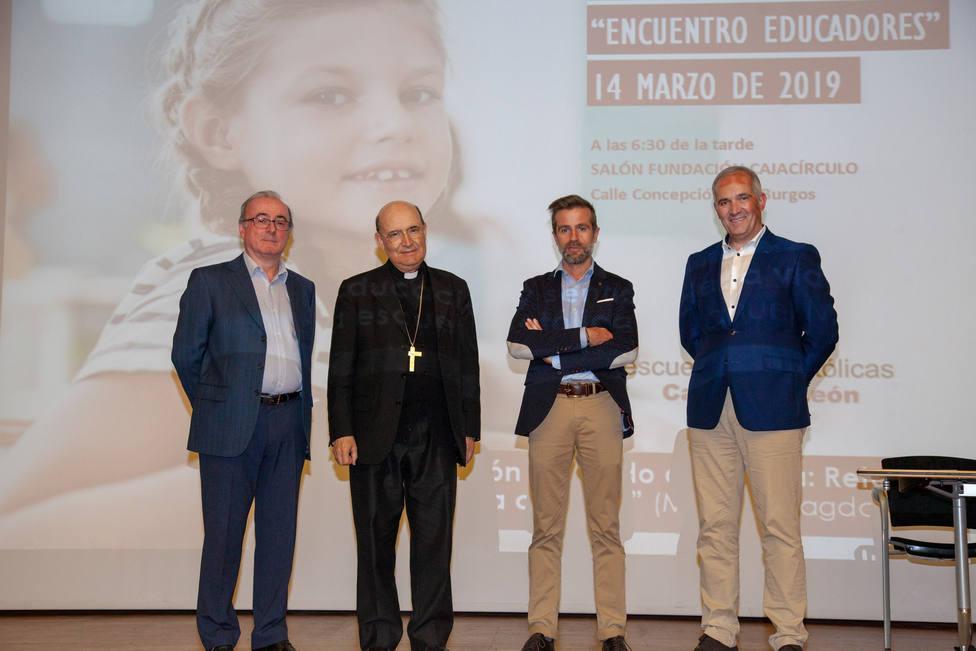 El arzobispo de Burgos, Fidel Herráez, en la celebración del día de la Escuela Católica Concertada