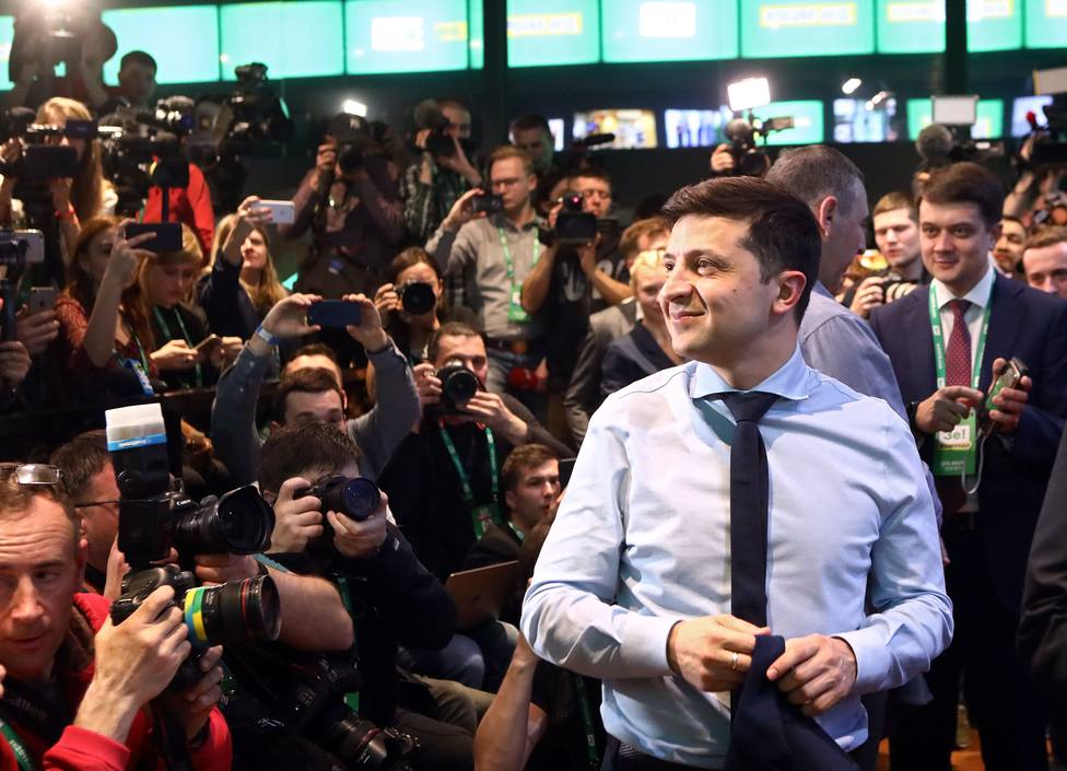 Un tribunal de Kiev desestima la demanda que pedía que el candidato Zelenski anulase su candidatura