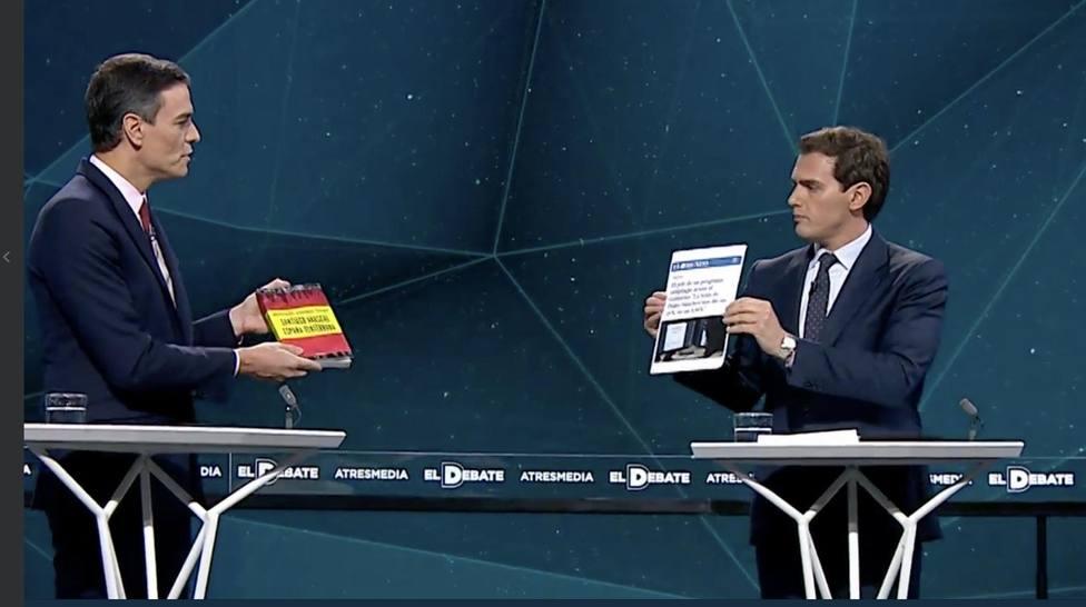 Albert Rivera a Sánchez: Hoy le traigo un libro que nunca ha leído: su propia tesis