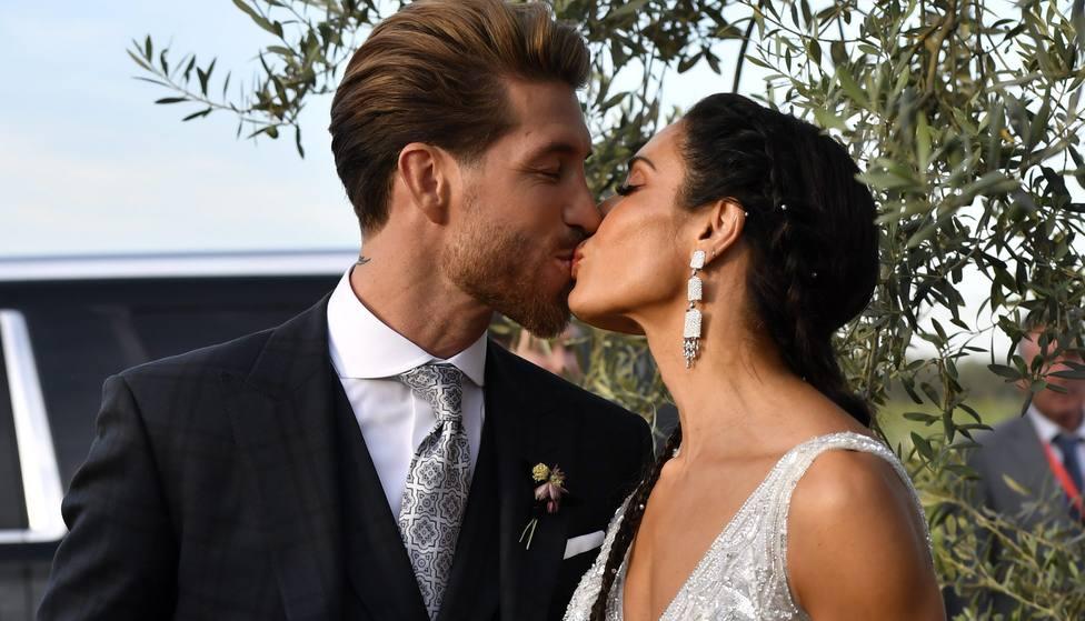 Las imágenes que no habías visto de la boda de Pilar Rubio y Sergio Ramos