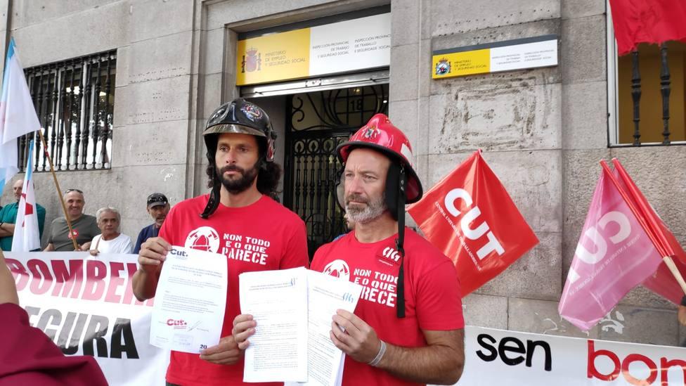 Bomberos de Vigo en huelga indefinida