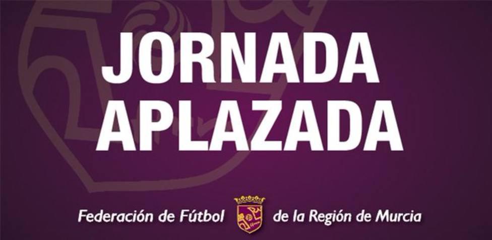 Aplazada la jornada en todas las categorías de fútbol de la FFRM