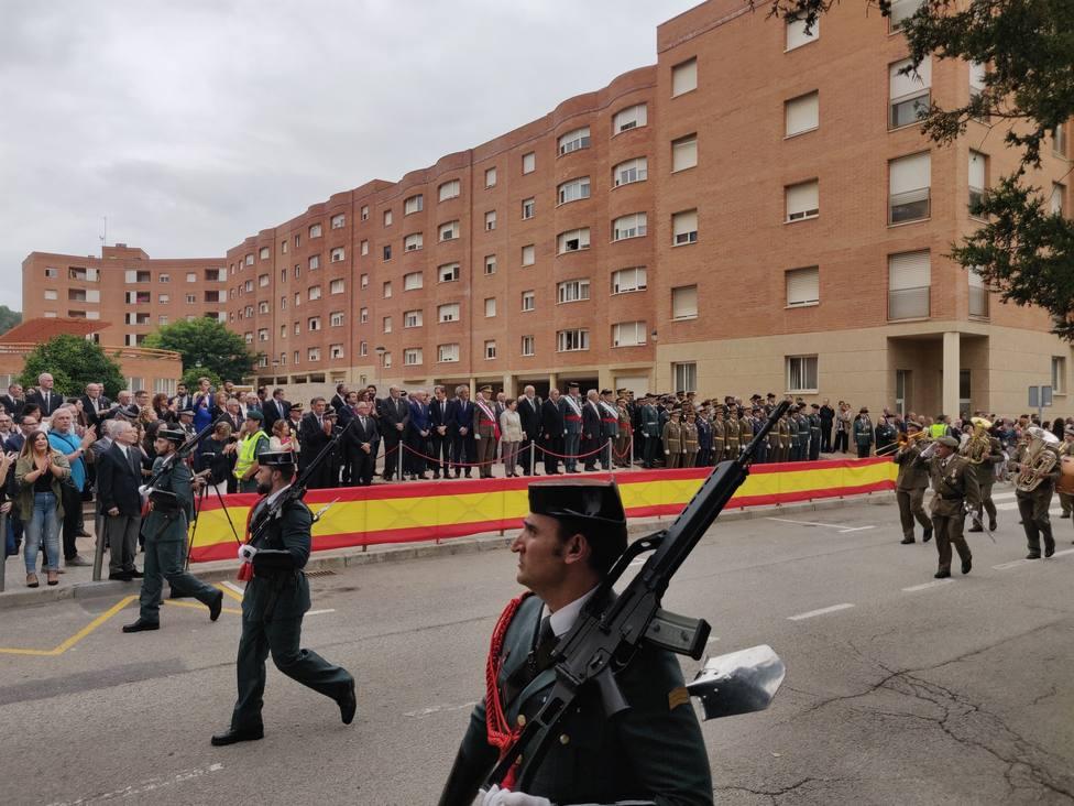 Desfile por el día de la Patrona de la Guardia Civil en Catalunya