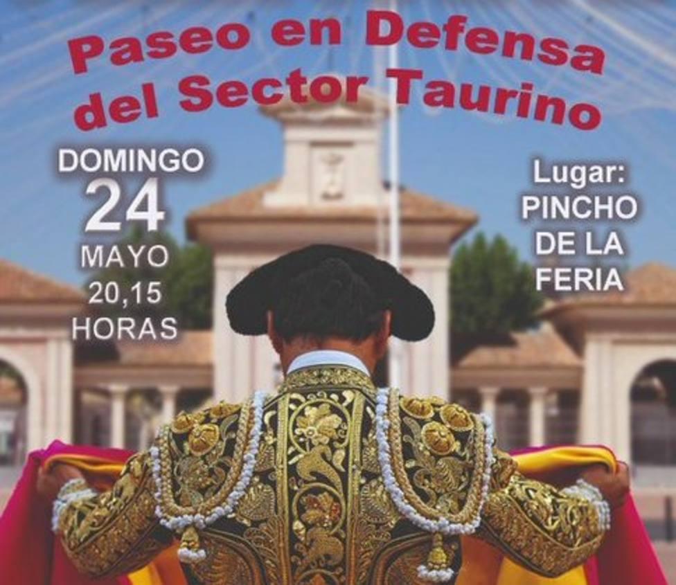 Cartel del Paseo en Defensa del sector taurino en Albacete