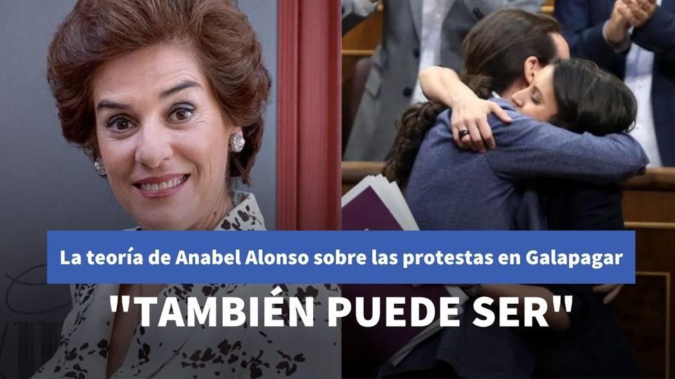Anabel Alonso y Pablo Iglesias