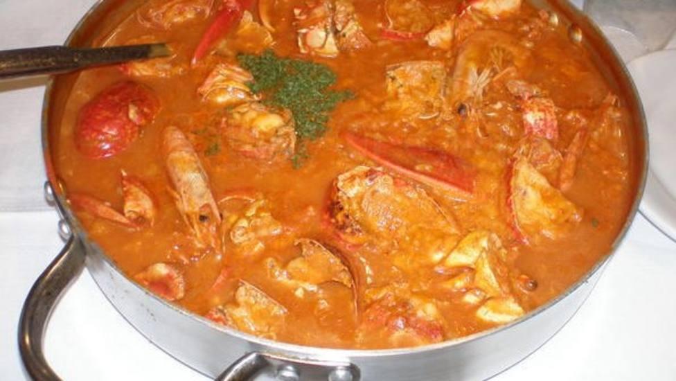 El arroz caldoso con marisco es el plato estrella de la gastronomía de Rinlo