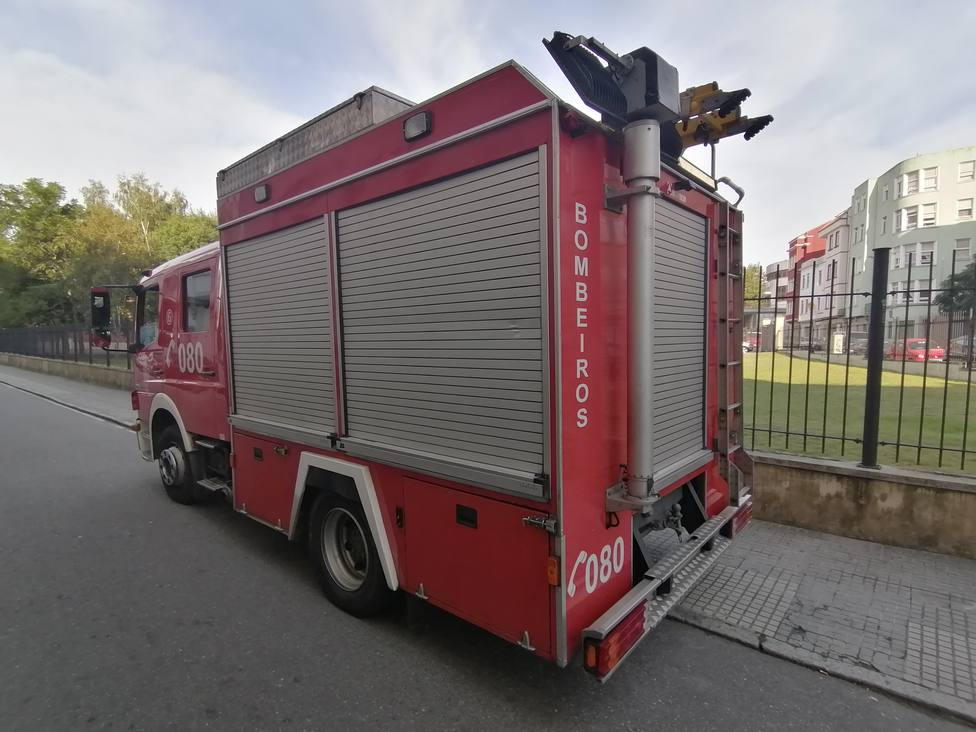 Foto de archivo de uno de los camiones de Bomberos de Ferrol