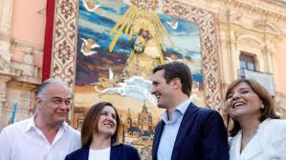 Casado durante una visita a Valencia