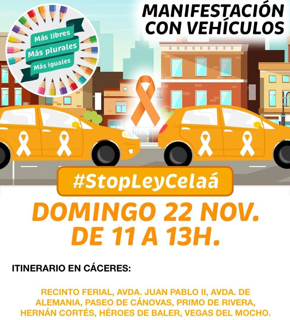 Itinerario caravana Más Plurales en Cáceres