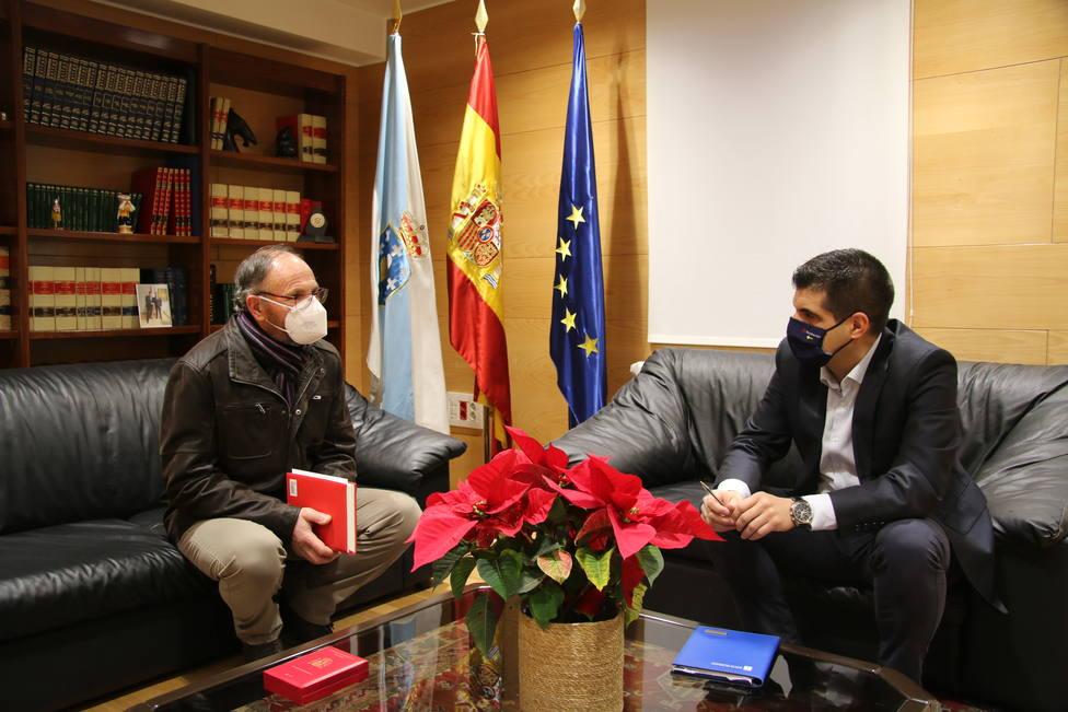 Gabriel Alén y Aquilino Valencia, en la reunión de esta mañana