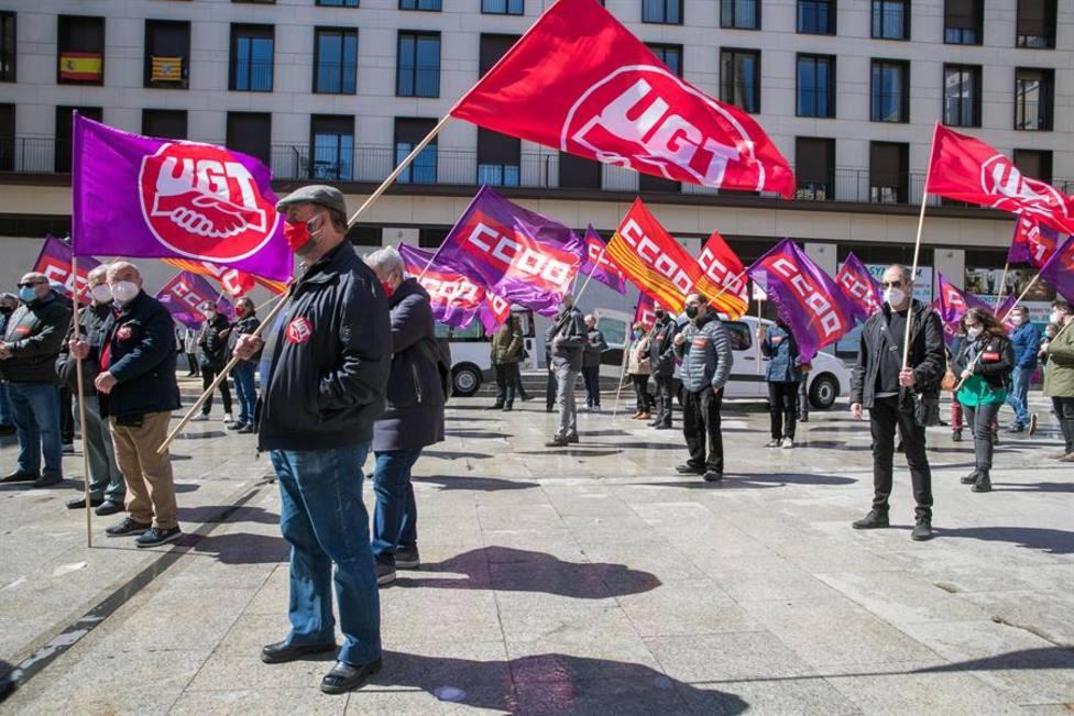 Manifestación sindical en tiempos de coronavirus