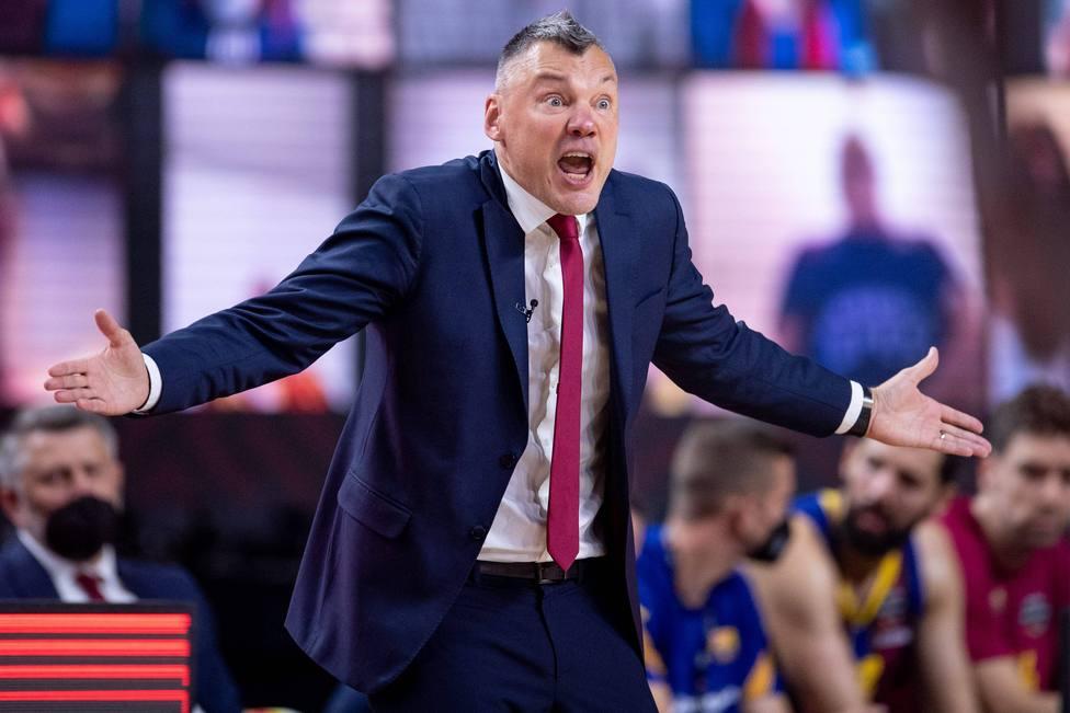 El entrenador del Barça, Sarunas Jasikevicius