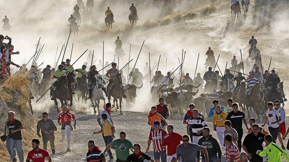 Imagen de los encierros de Cuéllar, premiados por la Junta de Castilla y León