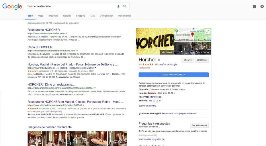 ElTenedor se alía con Google para facilitar las reservas online de restaurantes