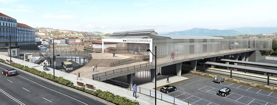 La futura estación intermodal en Santiago