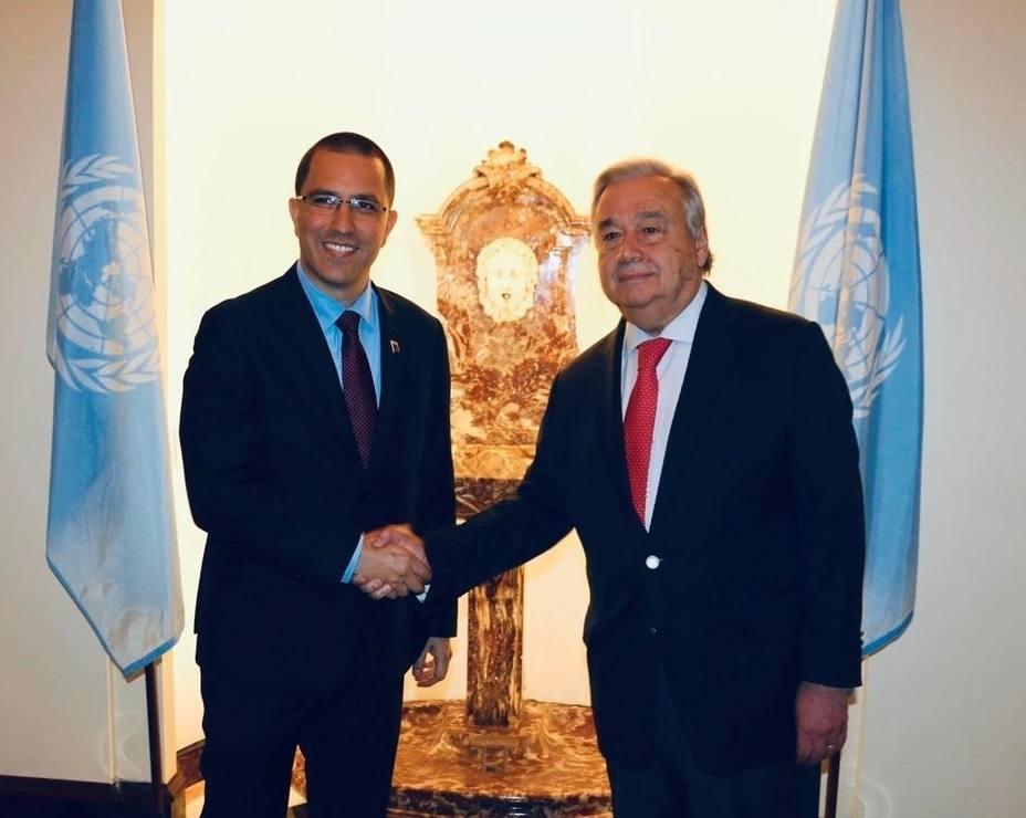 Venezuela.- Arreaza asegura que Guterres se ha mostrado dispuesto a ayudar a Venezuela
