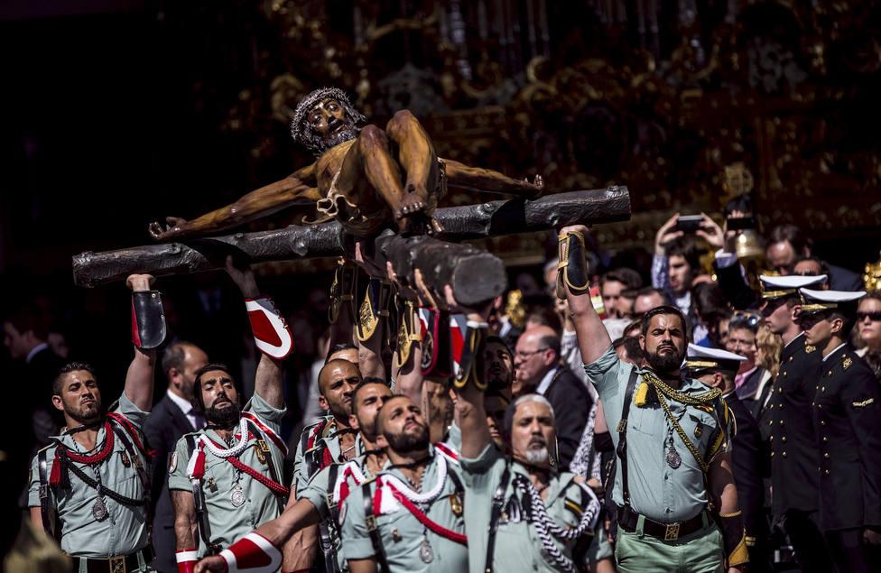 Un legionario sobre el Cristo de la Buena Muerte: Le llevamos en el pecho