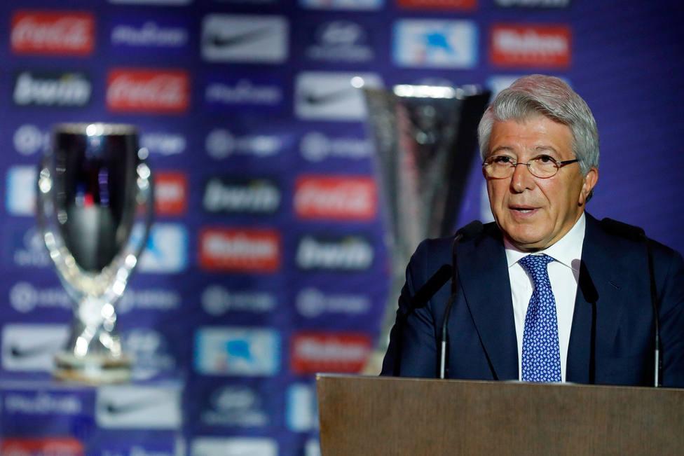 Enrique Cerezo, presidente del Atlético de Madrid. EFE