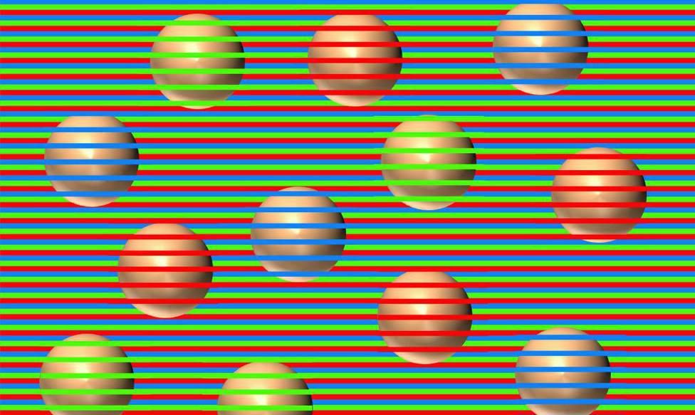 Este efecto óptico te dejará fuera de juego: todas las bolas son marrones