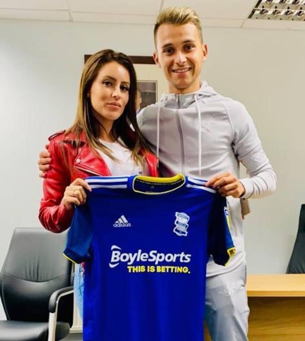 Fran Villalba, con la camiseta del Birmingham