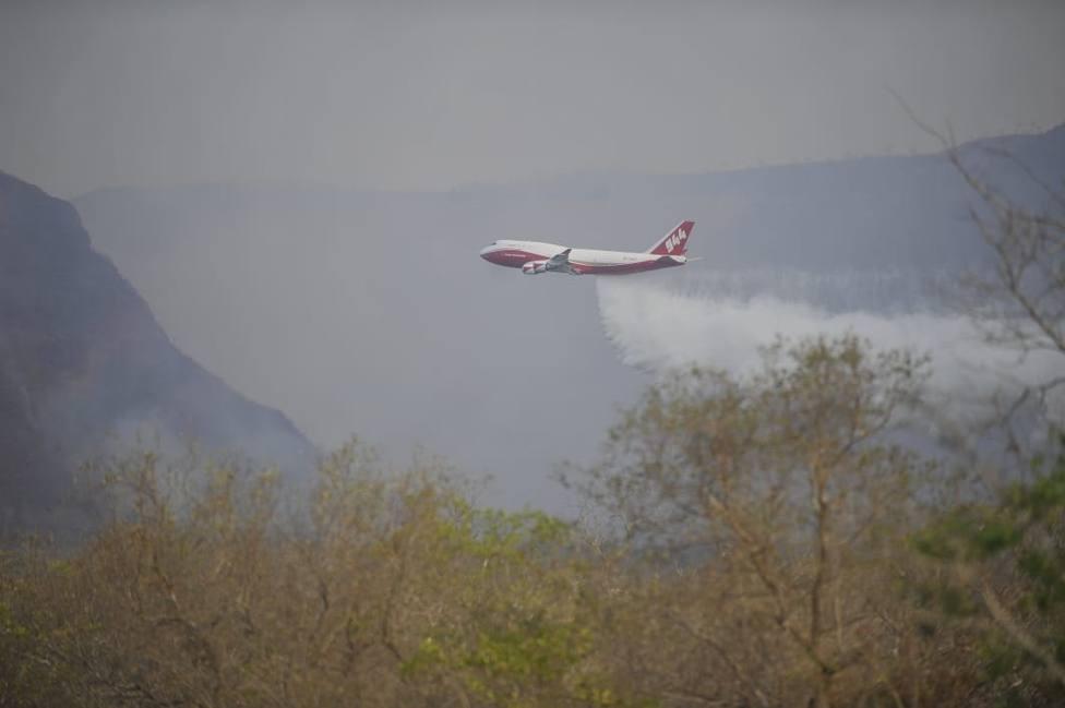 Bolivia utiliza un 747 para sofocar el incendio en la Amazonía