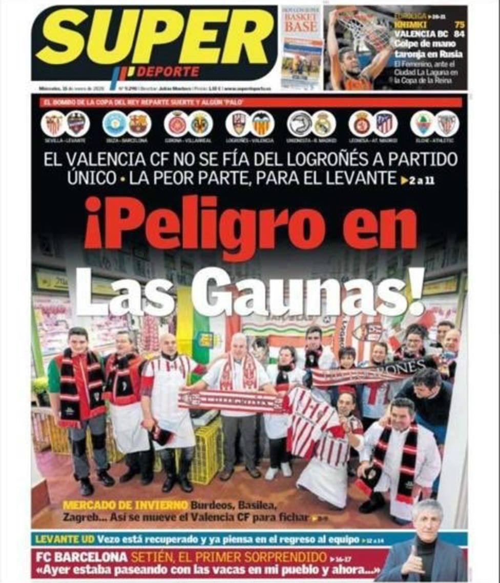 El Valencia CF no se fía de la UD Logroñés a partido único