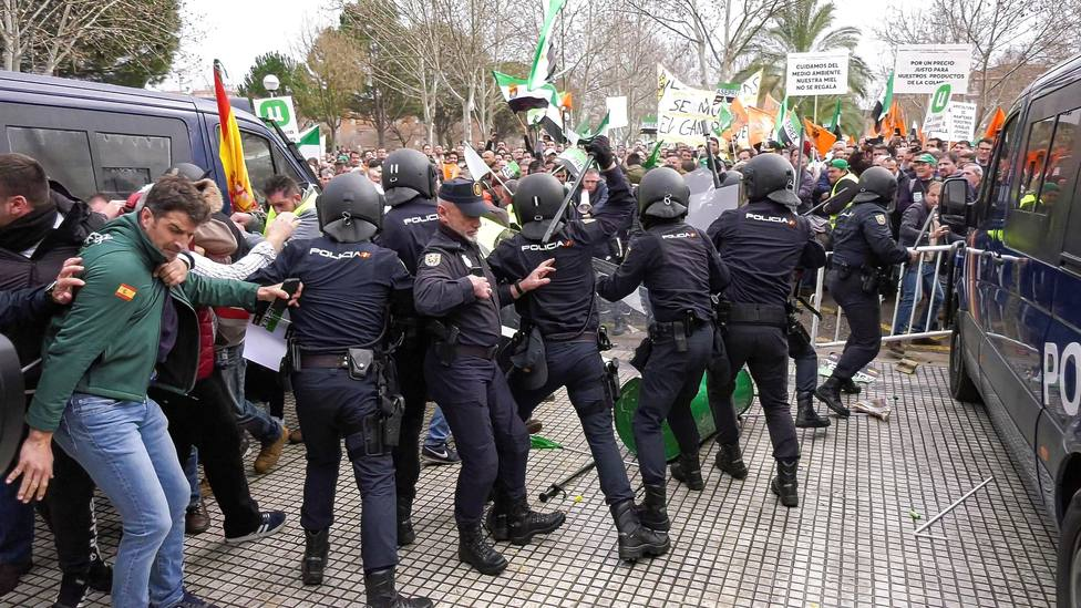 La Delegada Gobierno en Extremadura considera que la actuación de la Policía ha sido proporcionada
