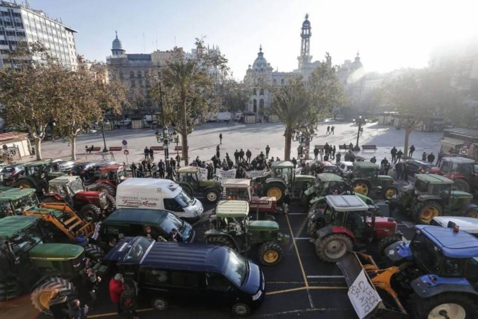 La tractorada inundará las calles de Valencia este viernes