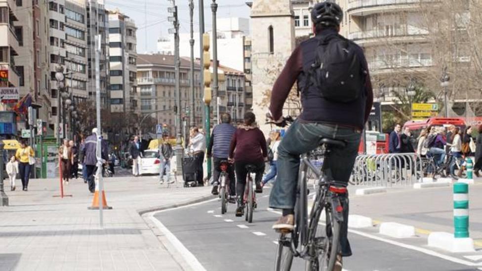 Carril bici calle Xàtiva