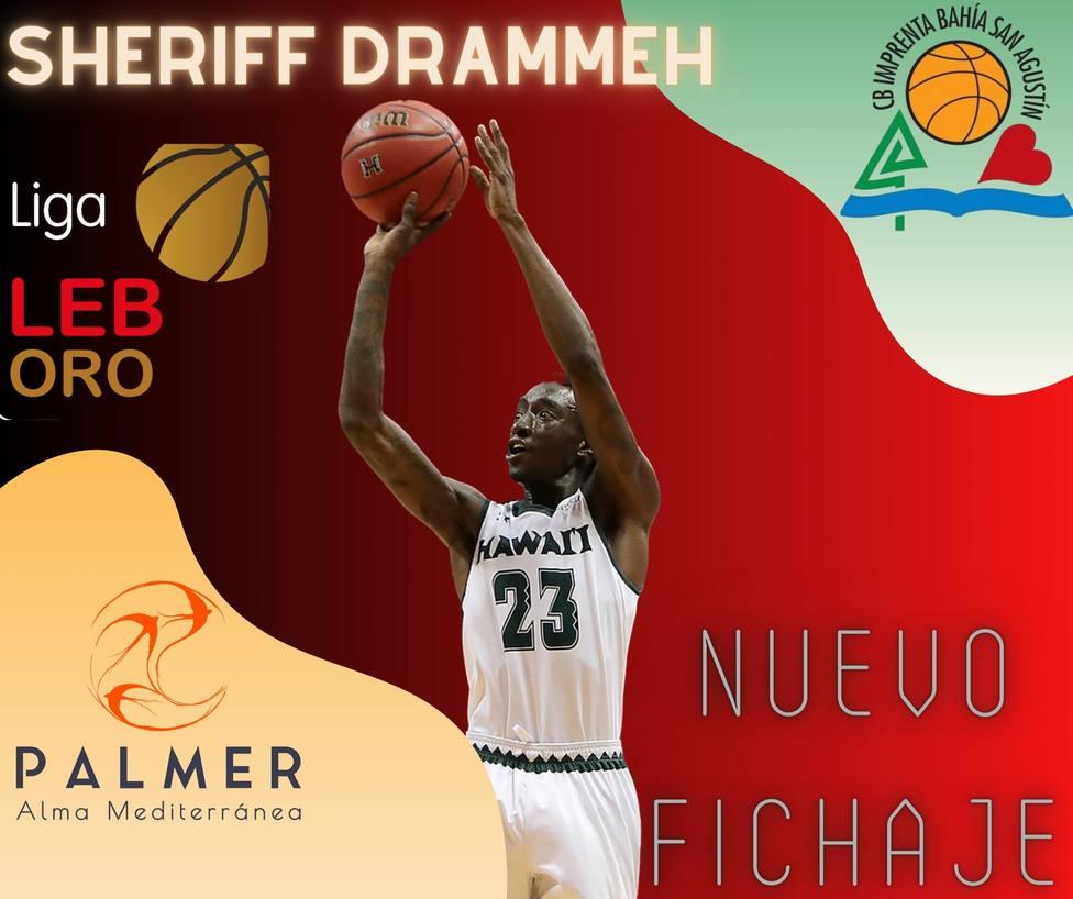 Cartel anunciando la incorporación de Sheriff Drammeh