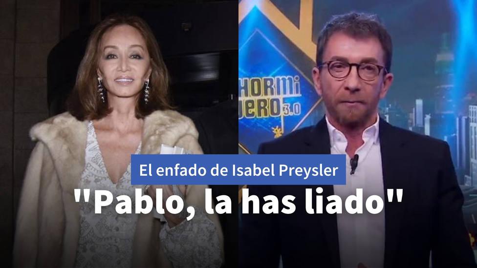 El enfado de Isabel Preysler con Pablo Motos y su hija: Pablo, la has liado