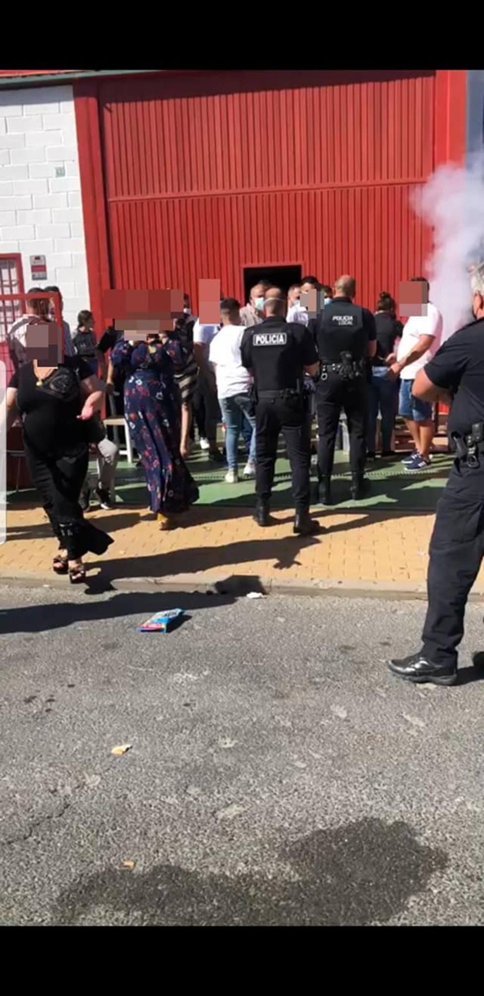 Intervención de la Policía Local de Almonte