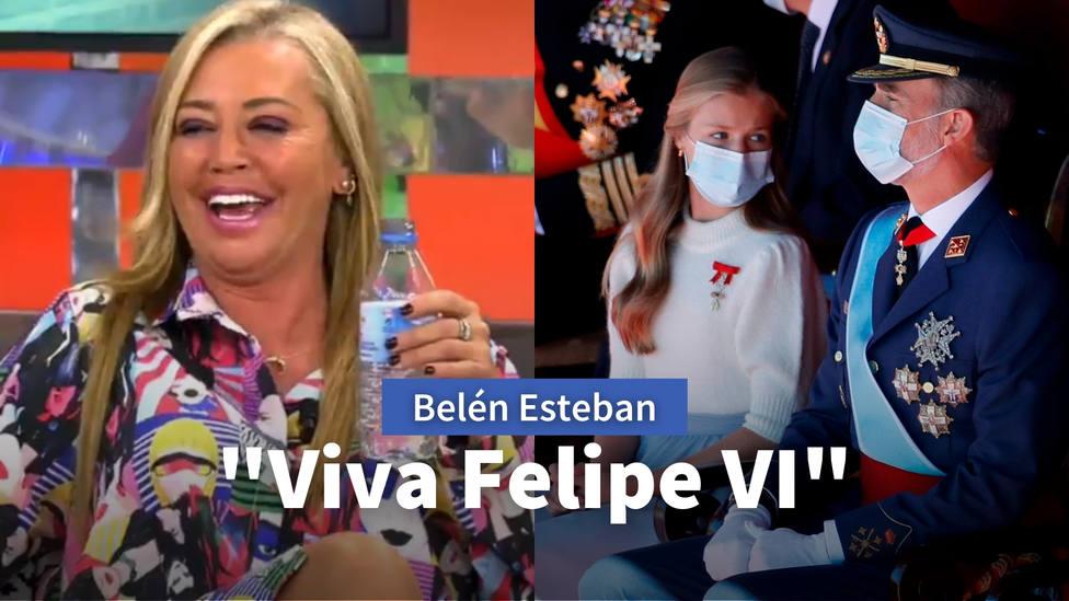 Belén Esteban deja sin palabras en Sálvame: ¡Viva el Rey y viva España! Y que me pongan verde