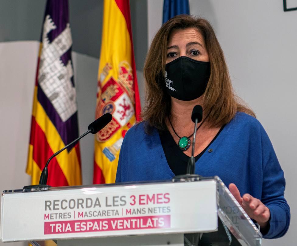 Armengol aboga por estrategias comunes de Baleares, Cataluña y Comunitat Valenciana ante el Gobierno