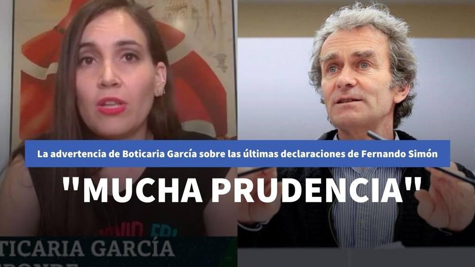 Boticaria García advierte del riesgo de una de las últimas declaraciones de Fernando Simón: Mucha prudencia