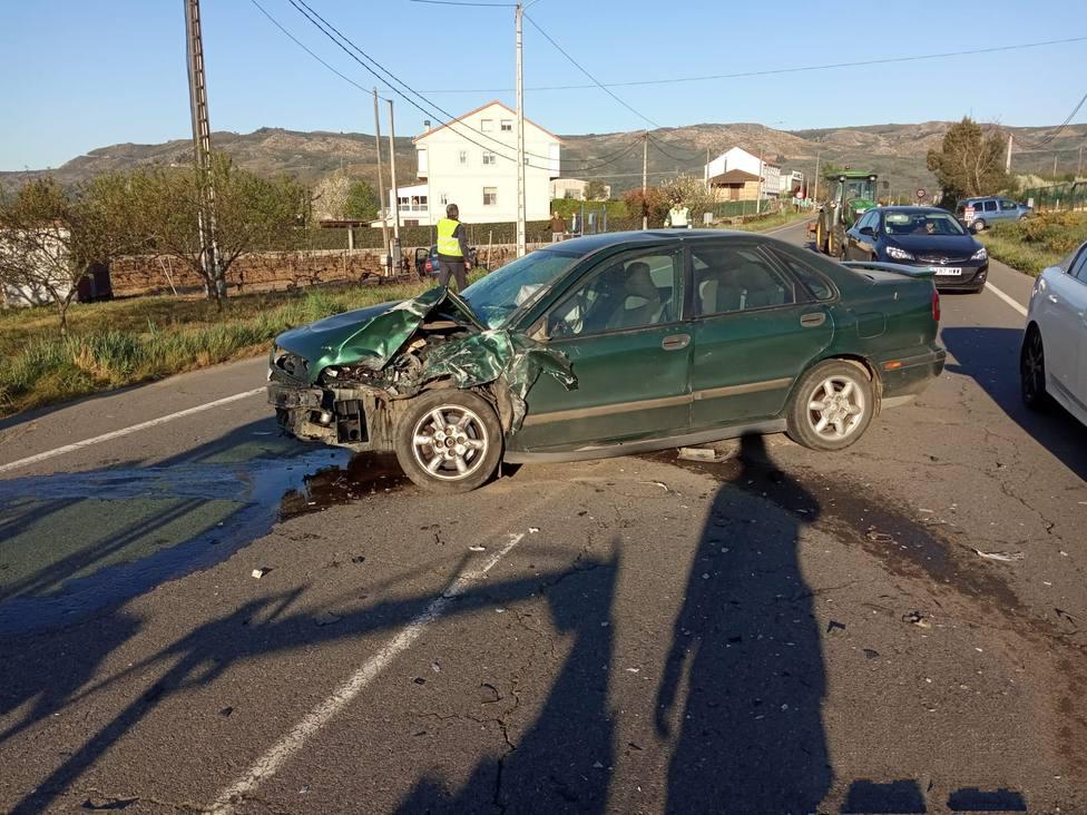 Uno de los vehículos implicados en el accidente de Albarellos