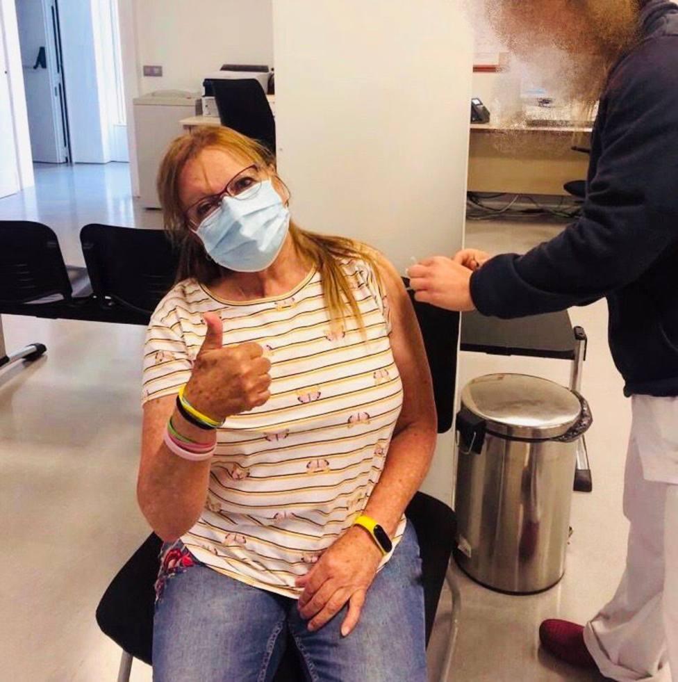 Mari Carmen vacunación