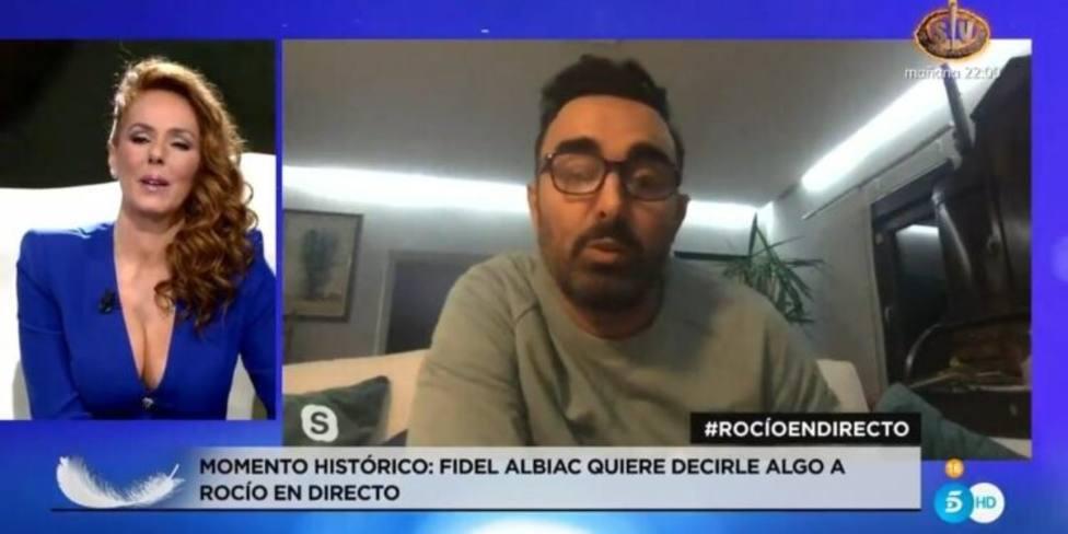Fidel Albiac rompe su silencio y manda un mensaje a Rocío Carrasco en pleno directo: No solo a ella