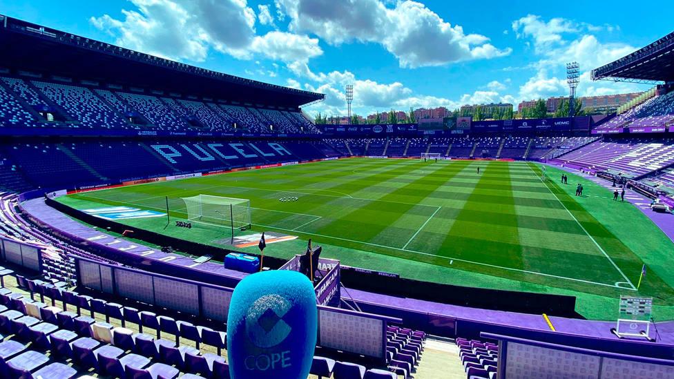 Micrófono de Tiempo de Juego en el Nuevo Estadio José Zorrilla de Valladolid