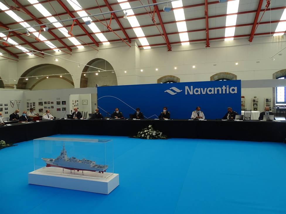 Participantes en Navantia Ferrol en la revisión de diseño preliminar - FOTO: Navantia