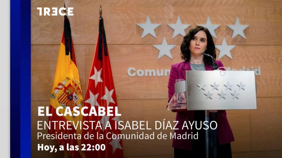 Isabel Díaz Ayuso esta noche en 'El Cascabel'
